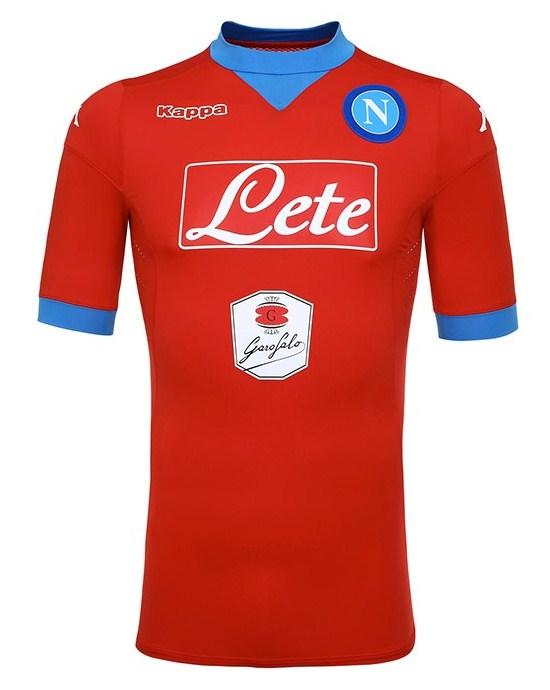 9c2c771a1c48b New Napoli Kappa Jersey 2015-16 SSC Napoli Home   Red Third Kits 15 ...