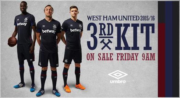 West Ham Third Kit 2015 16