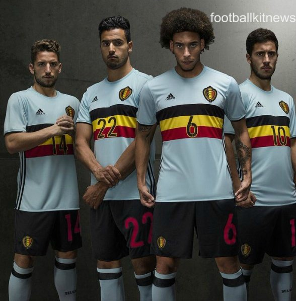 Belgium Away Top Euro 2016