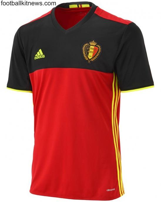 New Belgium Euro 2016 Jersey- Adidas Belgian 2016 2017 Home Kit ... 0dca1f984
