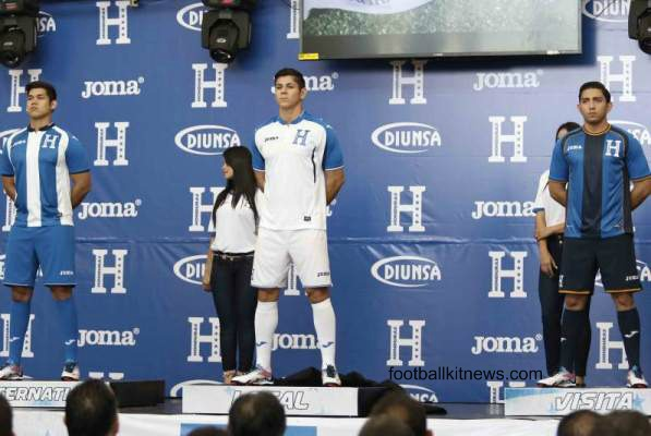 ccfced157f8 New Honduras Jersey 2016- Joma Honduras Kits 2016-17 Home Away Third ...