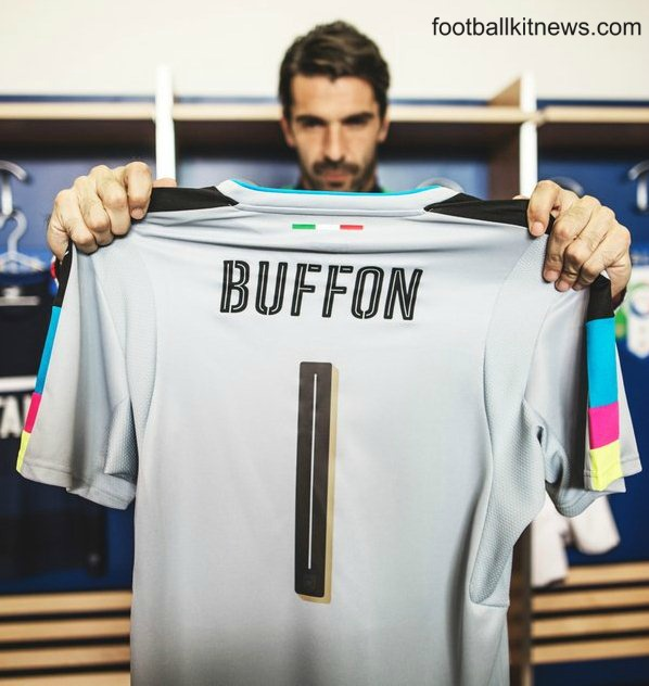 Italy Goalkeeper Shirt Euro 2016