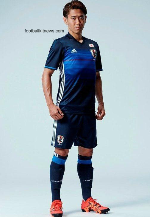 bbec2822f7ee1 New Japan Soccer Jersey 2016- Adidas Japanese Samurai Blue Football ...