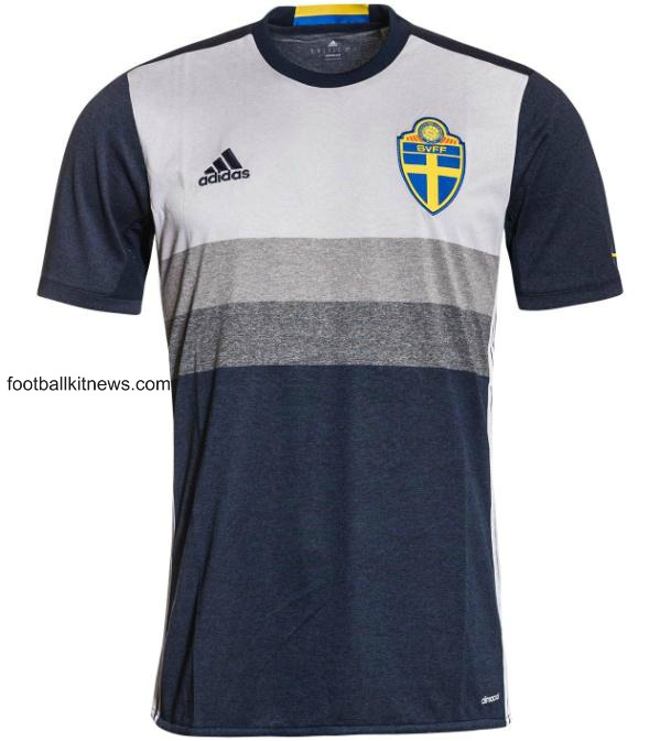 New Sweden Away Kit Euro 2016- Adidas Swedish Alternate Shirt 2016-2017