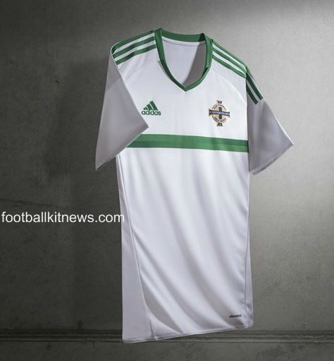 New Northern Ireland Away Jersey Euro 2016- White NI Away Shirt 2016-2017 Adidas