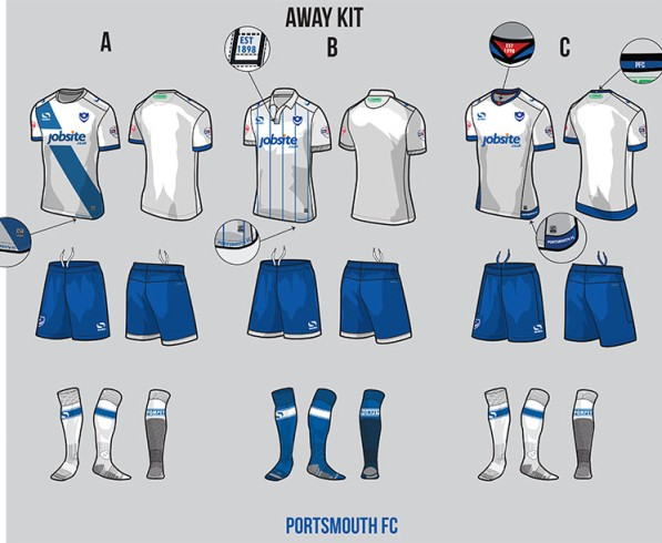 Soccer Jersey Vote 2016-17 Portsmouth Away