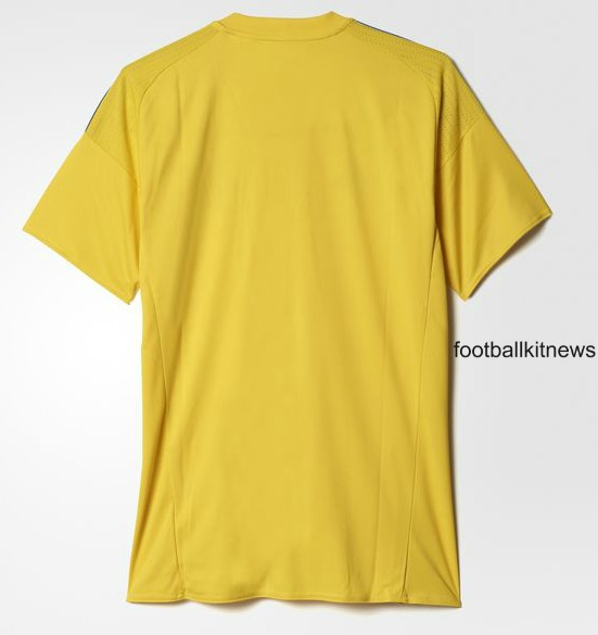 Ukraine Football Shirt 2016 Back