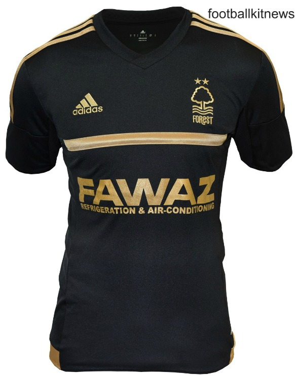 Black NFFC Third Kit 2015-16- New Nottingham Forest 3rd Shirt 15-16