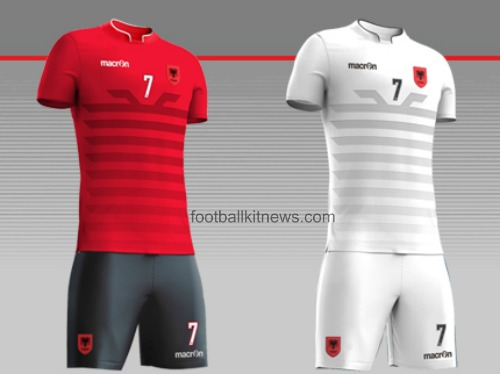 New Albania Euro 2016 Jersey- Macron Shqiperi Kits Home Away Third