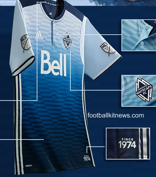 New Whitecaps Alternate Kit 2016- Vancouver MLS Sea to Sky Away Jersey Adidas
