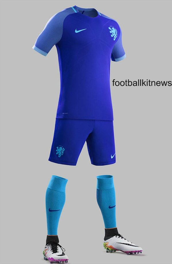 Blue Netherlands Away Kit 2016 2017