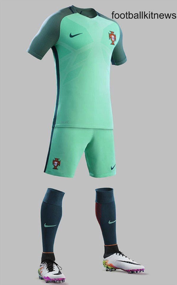 Green Portugal Away Kit Euro 2016