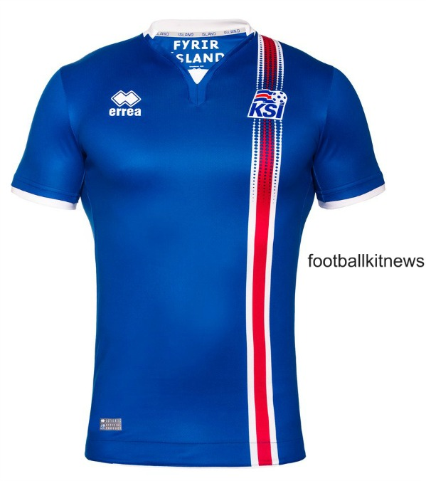 New Iceland Euro 2016 Jerseys- Iceland Errea Shirts 16/17 Home Away