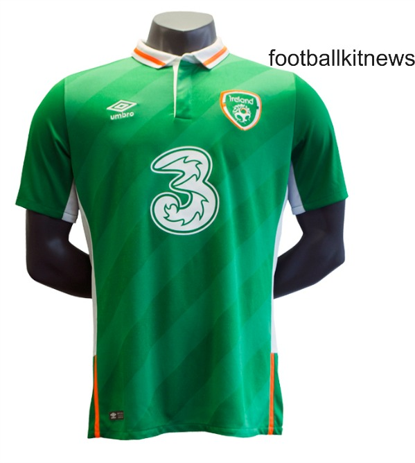 New Ireland Euro 2016 Top- Umbro Republic of Ireland Home Shirt 2016/2017