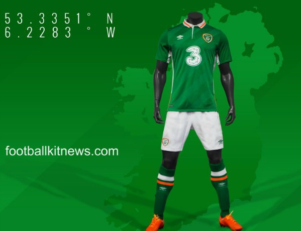 New Ireland Football Jersey 2016 2017