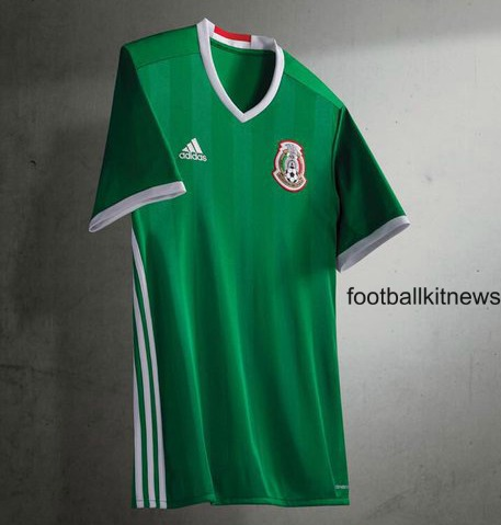 New Mexico Home Jersey 2016- Adidas El Tri Copa Centenario Kit