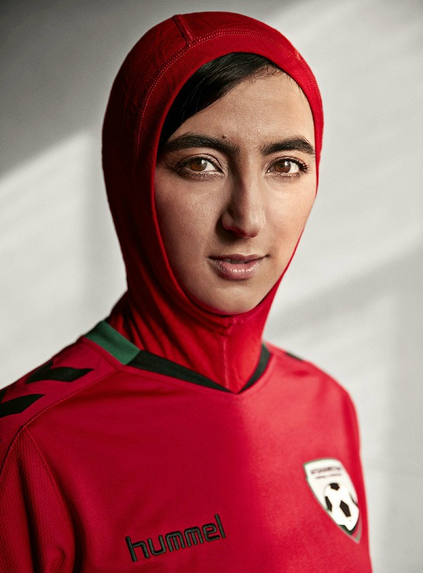 Soccer Jersey with Hijab Afghanistan Hummel