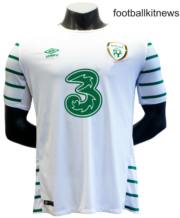New Republic of Ireland Away Jersey Euro 2016 by Umbro