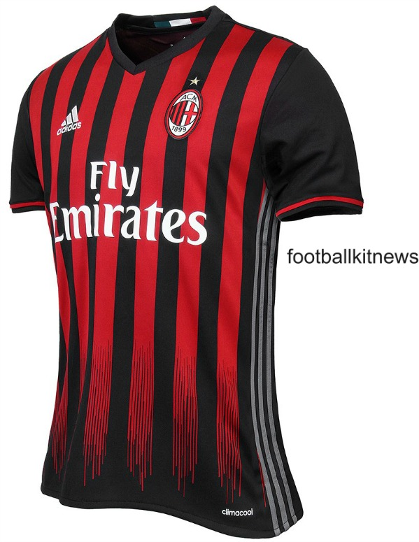 AC Milan Home Shirt 2016 17