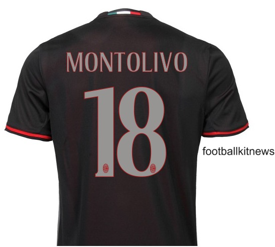 AC Milan Home Top 2016 2017 Back