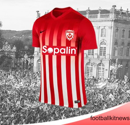 New AS Nancy Kit 2016/17- Nike ASNL Home Jersey 16-17