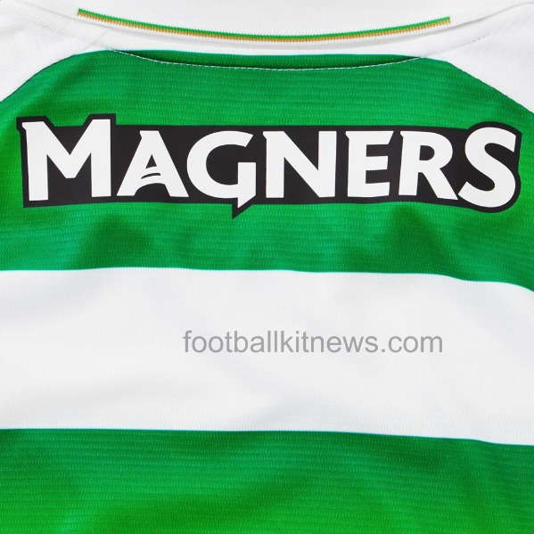 Back of Celtic Shirt Magners Logo
