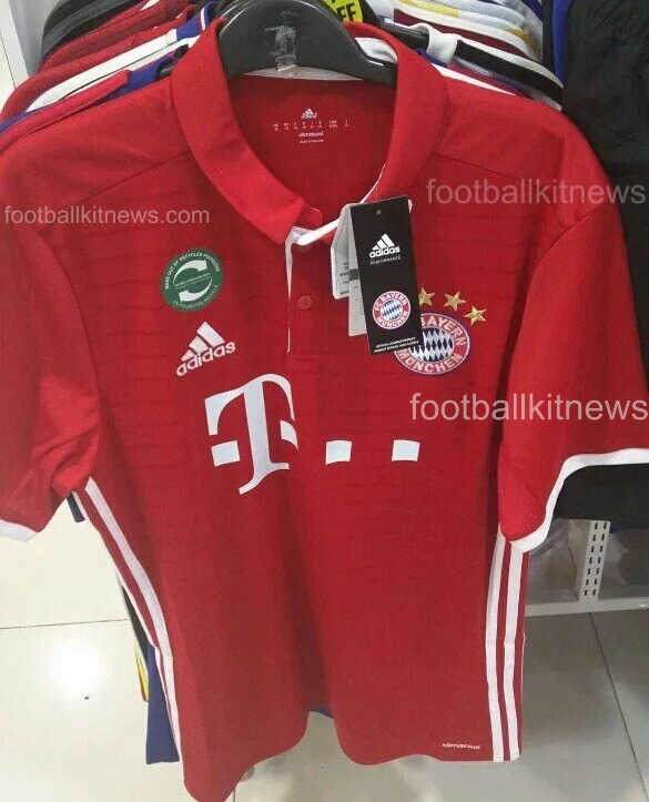 Leaked Bayern Munich Home Kit for 2016/17