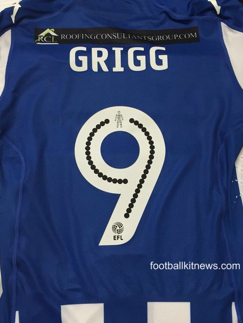 Wigan Athletic Shirt 2016 17 Back