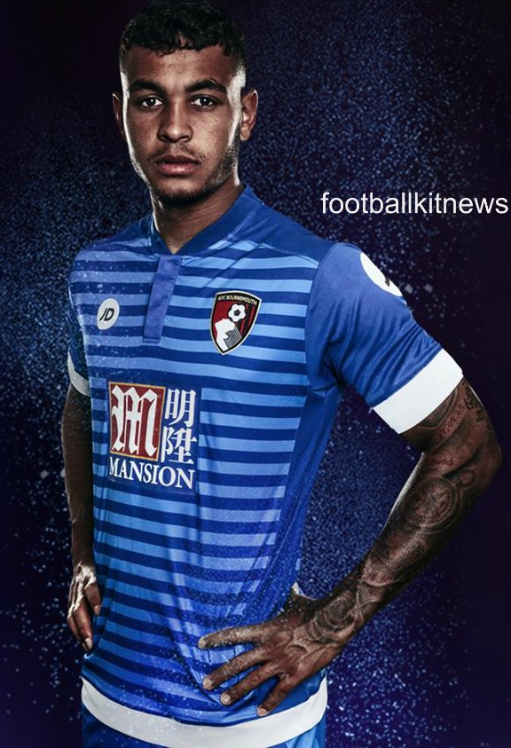 Blue Bournemouth Away Kit 2016-17 | AFCB JD Alternate Jersey 16-17