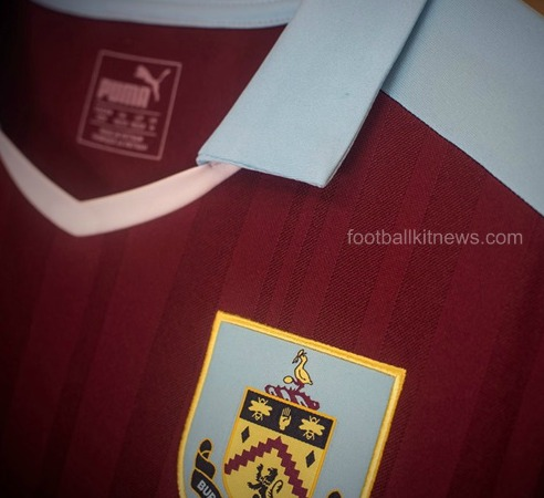 Burnley Home Jersey 16 17 Closeup