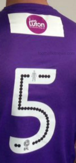 Luton Town Shirt 16 17 Numbering