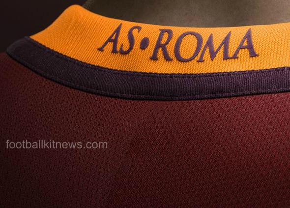 AS Roma Wordmark On Shirt
