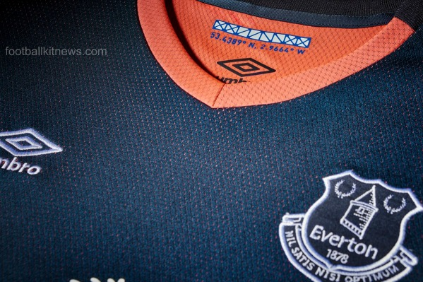 Everton Away Shirt 16 17 Closeup Numbers
