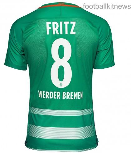 Werder Home Shirt Back 16 17