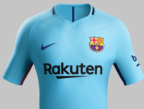 new arrival 799aa 2d324 New Barcelona Away Kit 2017-2018 | Blue FCB Jersey 17-18 by ...