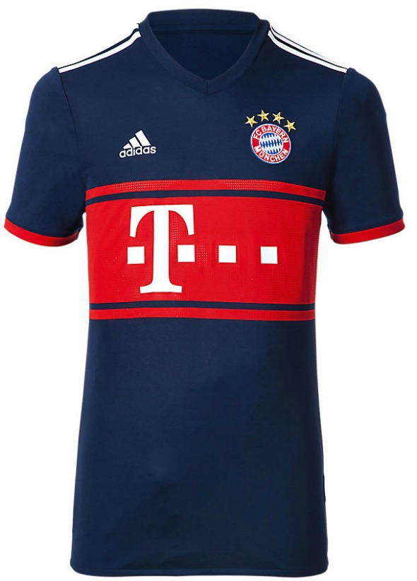 4eaf4c6a018 T-Mobile remain principal shirt sponsors and the likes of Thomas Muller and David  Alaba are here seen modelling the new away strip.
