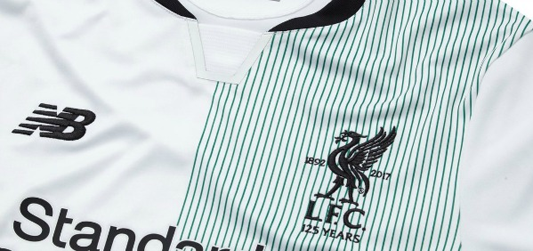 fcc948ef375 Green   White Liverpool Away Top 2017-18