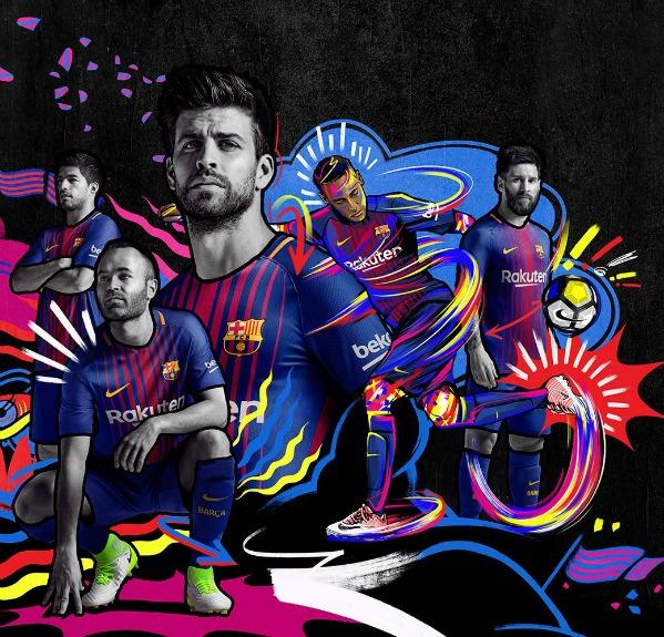 New barca jersey 2017 2018 nike fc barcelona home strip - New home barcelona ...