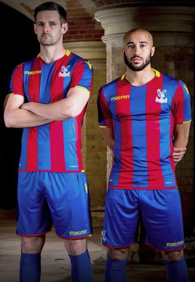 647bf4e9f New CPFC Jersey 2017-2018- Macron Crystal Palace Home Shirt 17-18 ...