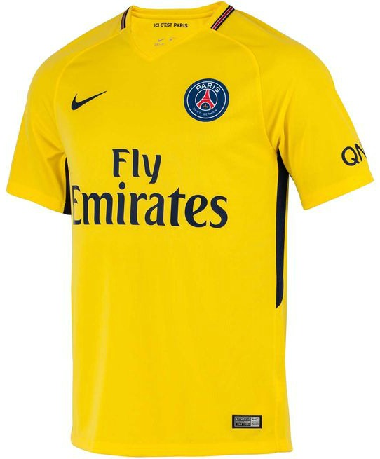 Yellow PSG Jersey 2017 2018