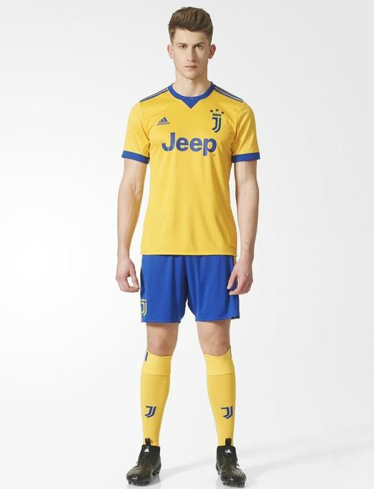 8b96a37d9 Yellow Juventus Away Strip 2017-2018 by Adidas