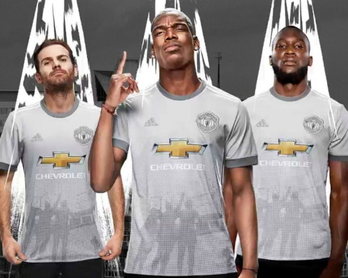 best sneakers 343f4 3477e Grey Man Utd Shirt 2017-2018 | New Manchester United Third ...