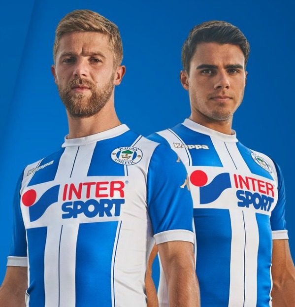 b737b989e64 New Wigan Athletic Kit 2017-18