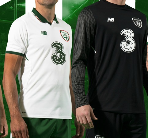 on sale 45977 2d44e New Ireland Away Football Kit 2017-18 | White Irish ...
