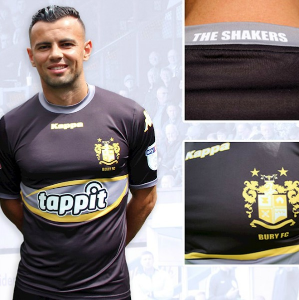New Bury FC Away Kit 2017-2018 | Tappit and PaySec to be