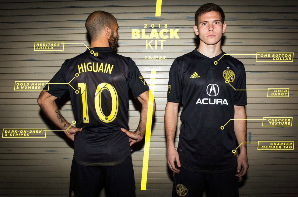 Columbus Crew SC Acura Black Kit 2018