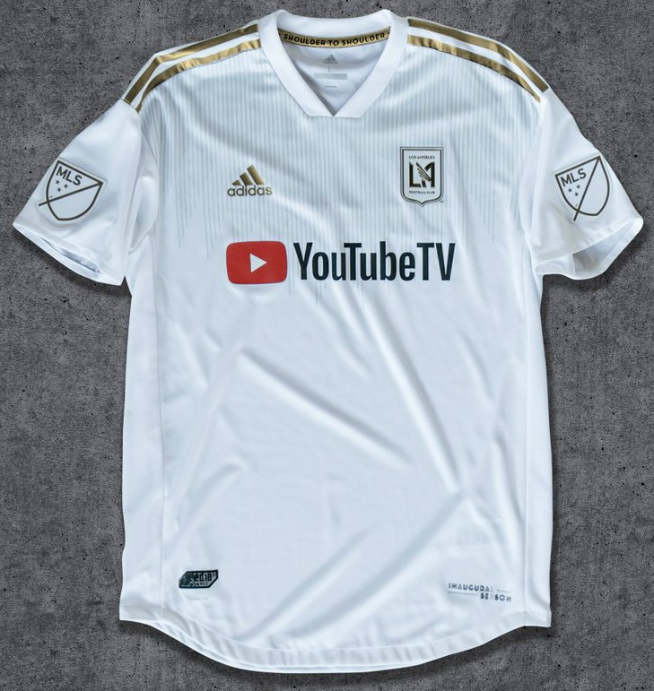 23077574bbce First ever LAFC Jersey 2018 Youtube TV Sponsor- Adidas Los Angeles ...