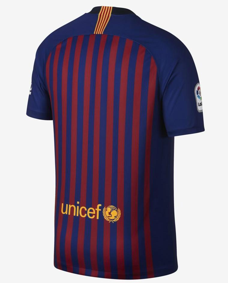 Back of Barcelona Shirt 18 19