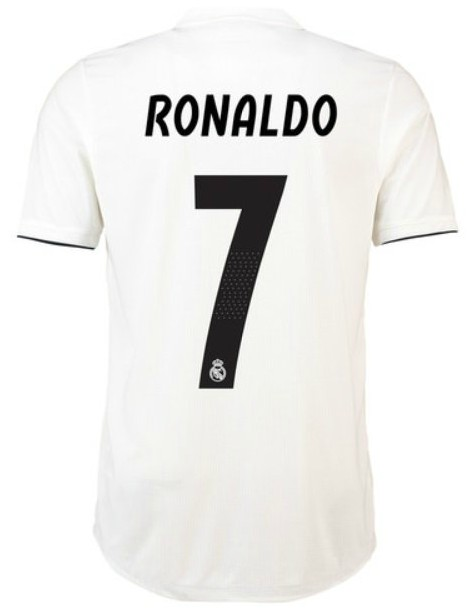 Back of Real Home Shirt 18-19