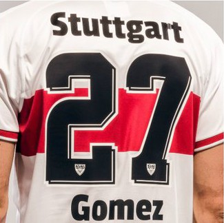 Back of Stuttgart Shirt 18 19